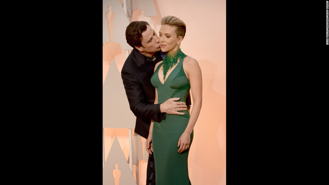 John Travolta and Scarlett Johansson