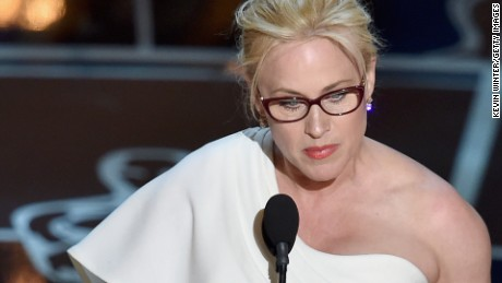 Actress Patricia Arquette accepts the Best Supporting Actress award at the 87th Annual Academy Awards in Hollywood on February 22.