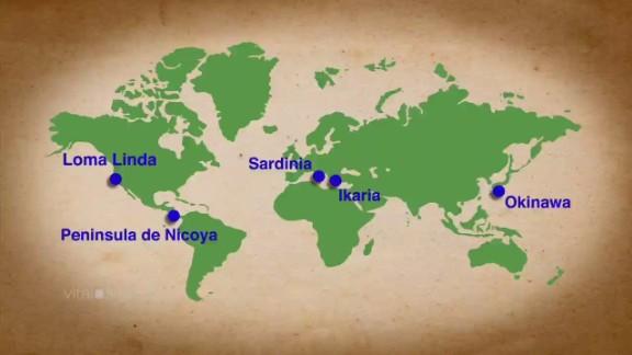 The five original Blue Zones.