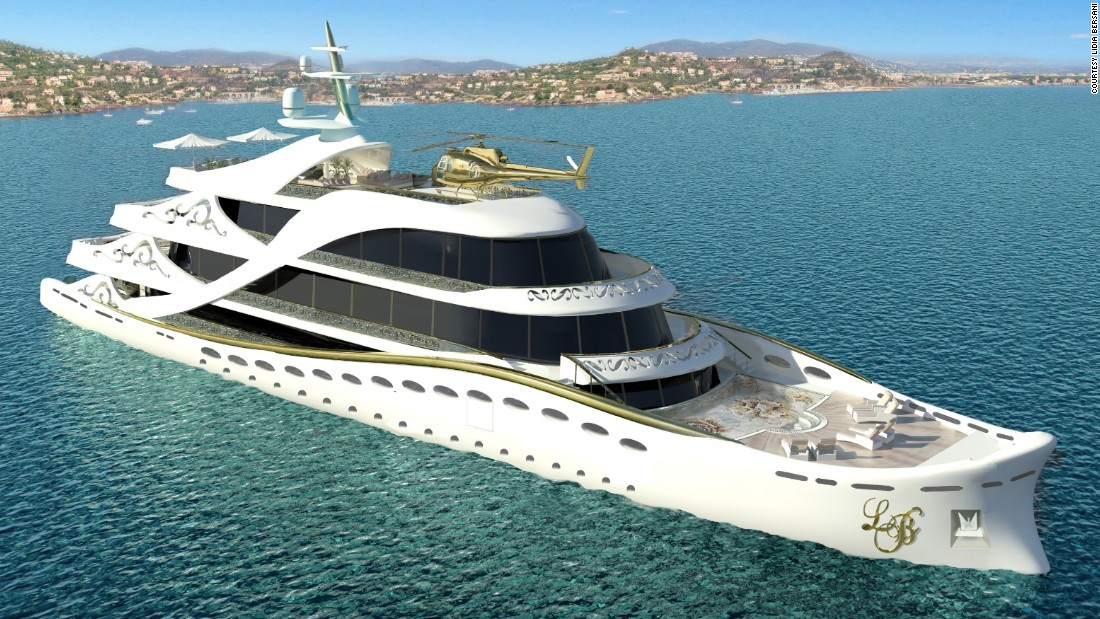 Artist impression of La Belle, described as the first superyacht specifically designed for women.