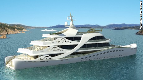 Concept design for La Belle, the world's 'first superyacht for a lady.'