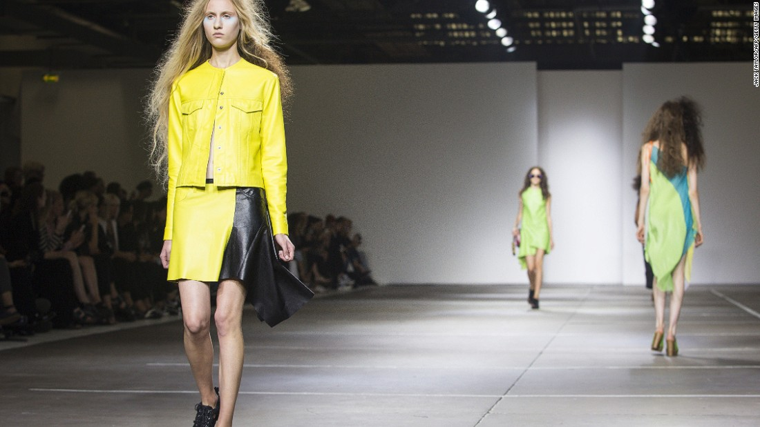Designers Marta Marques and Paulo Almeida, who will show their most recent collection on Feb. 24, took home the British Fashion Award for Emerging Womenswear Designer in 2014. They are also short-listed for the 2015 LVMH Prize. (This image is from their Spring/Summer 2015 collection.)