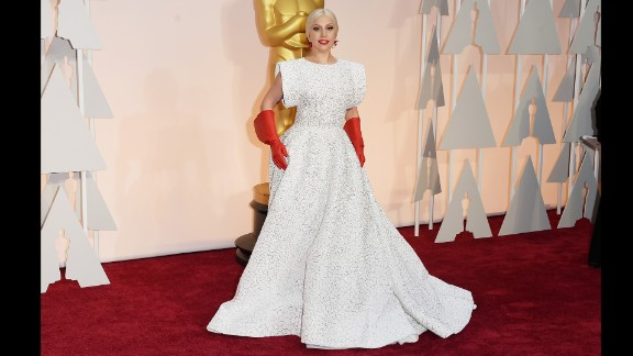 Lady Gaga set social media afire with her look on the 87th Annual Academy Awards red carpet. It's just one of her many amazing fashion displays. Click through for more.