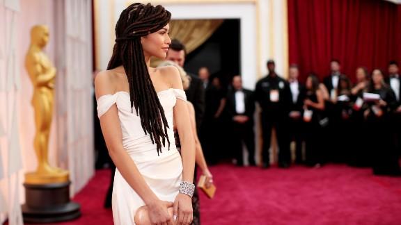 Disney actress Zendaya arrives on the red carpet