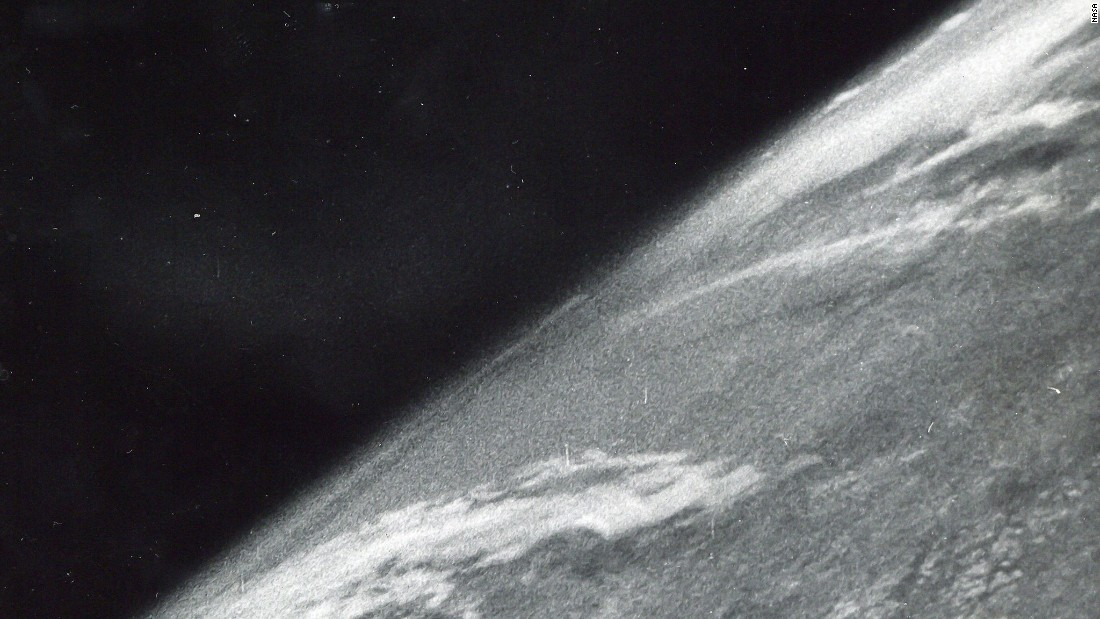 Nearly 700 photographs from the golden age of space exploration are being sold by Bloomsbury Auctions in London. The sale includes iconic images and a large number of rarely seen photographs from NASA. Seen here is the first photo from space, captured on October 24, 1946, by a camera attached to a V-2 missile and launched from New Mexico. The official boundary of space is the Karman line, which lies at an altitude of 62.5 miles.