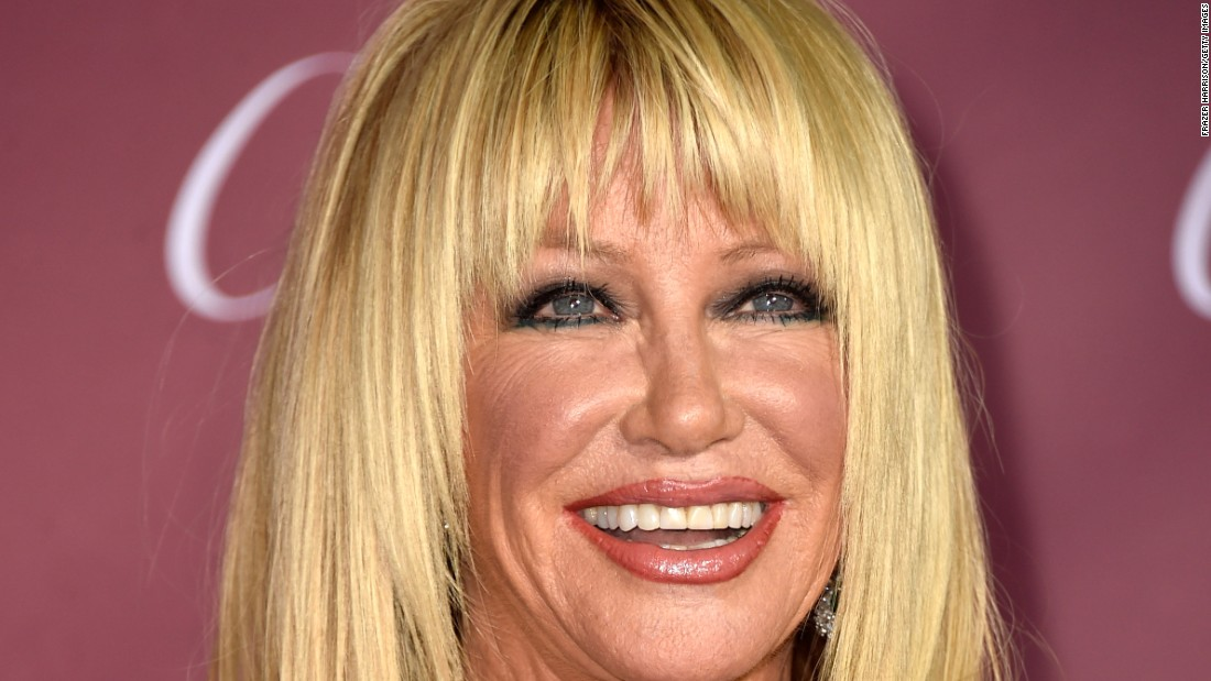 "Actress Suzanne Somers, known for her role on ""Three's Company,"" her books and her product sales, was also sent home."