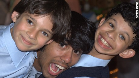 Alex's brothers Kush, center, and Rohan, left, share a special bond with him.