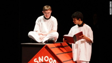 Alex performing in a Whole Children theater production of  'Charlie Brown and Pals'