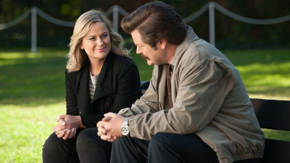 "Fans called the series finale of ""Parks and Recreation"" -- filled with flash-forwards -- a home run."