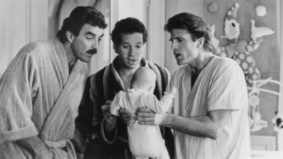 """Nimoy was also a successful director. He helmed two """"Star Trek"""" films as well as """"Three Men and a Baby,"""" the No. 1 box-office hit of 1987. Tom Selleck, from left, Steve Guttenberg and Ted Danson starred."""