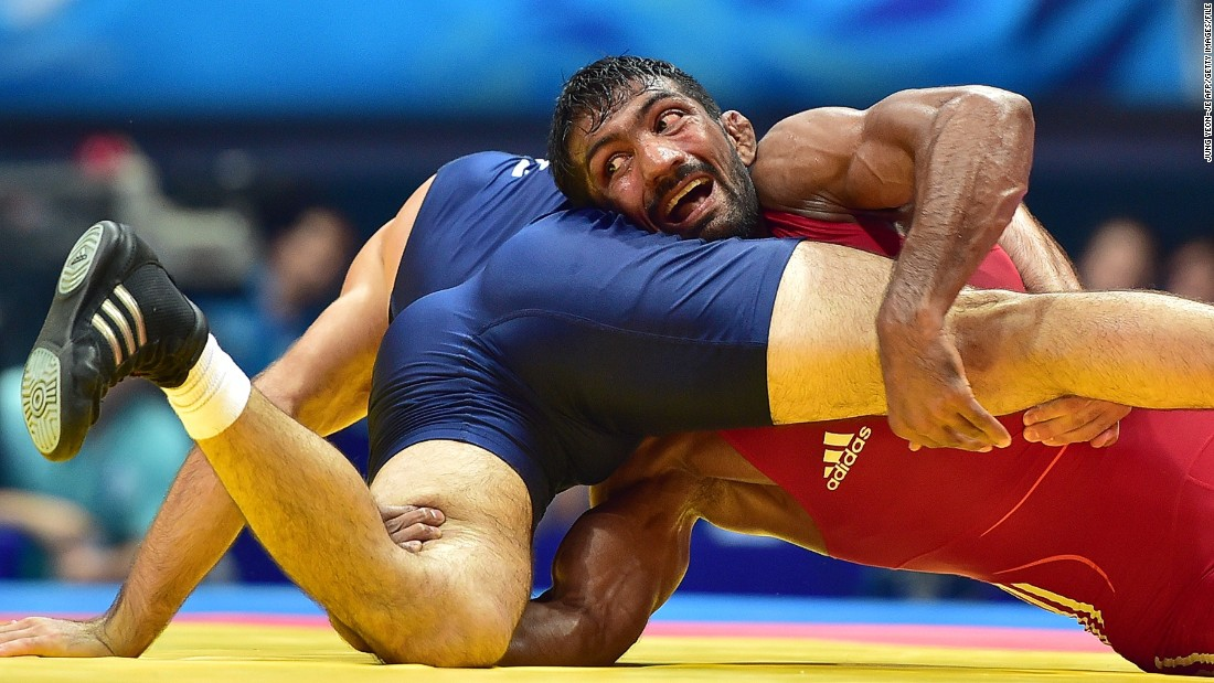 "With a battle-worn face that wears the story of a thousand bouts, the freestyle wrestler has risen from rural mud-wrestling pits to produce moments of unscripted theater on crash mats around the world. <a href=""/2015/02/25/sport/sport-wrestling-yogeshwar-dutt/index.html"" target=""_blank"">Read more</a>"