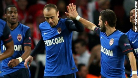 Dimitar Berbatov takes the plaudits after his fine second goal for Monaco in the 3-1 win over Arsenal at the Emirates Stadium.