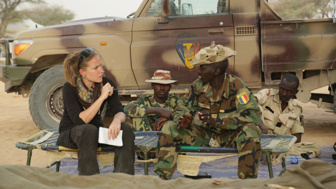 "CNN correspondent Arwa Damon interviews Chadian Captain Zakaria Madaga at his unit's camp. ""If you have this kind of training you can defend yourself from death,"" says Madaga."