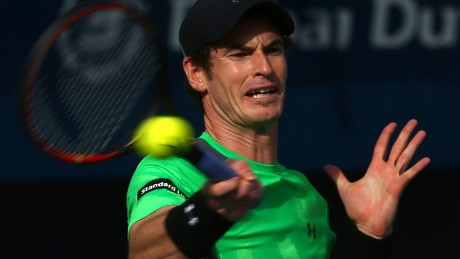 Andy Murray struggled for any sort of rhythm during his thoroughly one-sided defeat by Borna Coric.