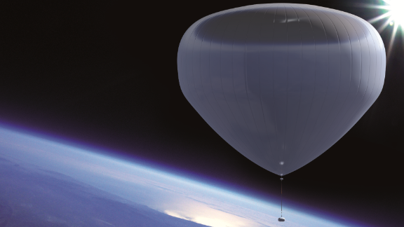 """Zero2infinity plans to launch passengers to near space using """"Bloons,"""" for €110,000 ($124,000) a time. Balloons would take between 1.5-2 hours to reach maximum altitude."""