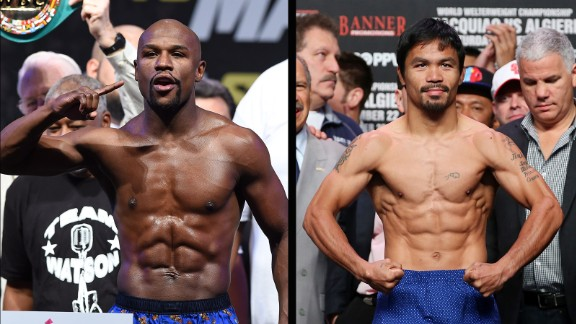Floyd Mayweather Jr. and Manny Pacquiao have turned to social media to promote their fight in a battle for online supremacy.