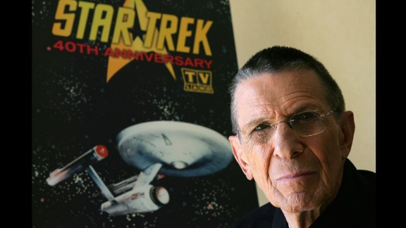 """Nimoy promotes the """"Star Trek"""" 40th anniversary on the TV Land network in 2006."""