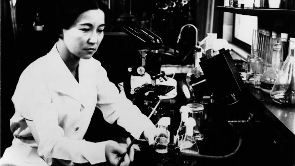 """90-105, 9B, Portraits Hir; """"Biochemist and bacteriologist Ruby Hirose researched serums and antitoxins at the William S. Merrell Laboratories.  In 1940, Hirose was among ten women recognized by the American Chemical Society for accomplishments in chemistry, and later made major cont"""""""