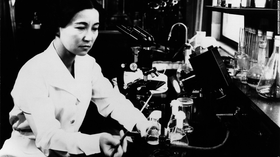 "<a href=""http://siarchives.si.edu/collections/siris_arc_297429"" target=""_blank"">Ruby Hirose</a> (1904-60) was one of 10 women recognized by the American Chemical Society for accomplishments in chemistry in 1940. A biochemist and bacteriologist, she researched antitoxins and serums. Hirose also helped develop vaccines against infantile paralysis, according to the Smithsonian. The University of Cincinnati, where she earned her doctorate, appears on the app."