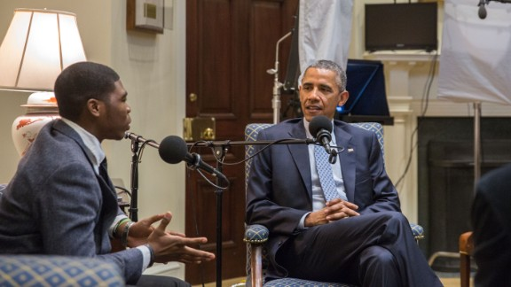 President Barack Obama sits down with 18-year-old Noah McQueen for an interview.