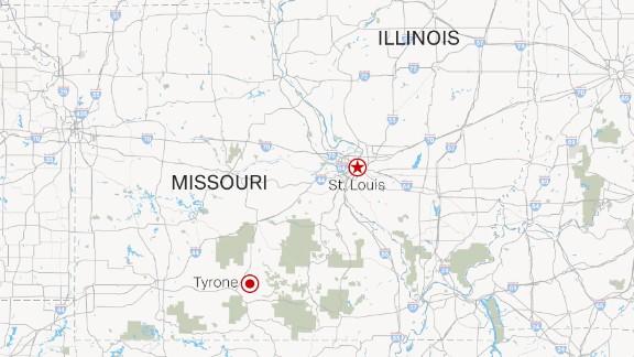 Map: Tyrone, Missouri