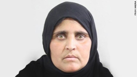 The photo of Sharbat Bibi from her Nadra form.