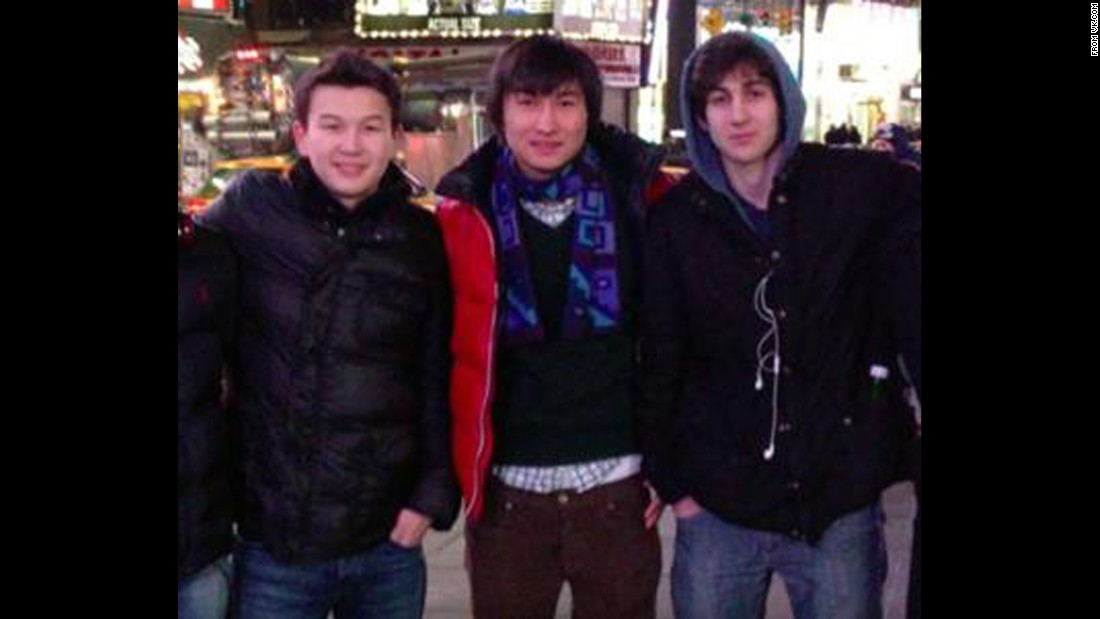 Azamat Tazhayakov, left, and Dias Kadyrbayev are shown with Dzhokhar Tsarnaev, right. Tazhayakov and Kadyrbayev were convicted of obstruction of justice, but a recent U.S. Supreme Court decision on a different case may call those convictions into question.