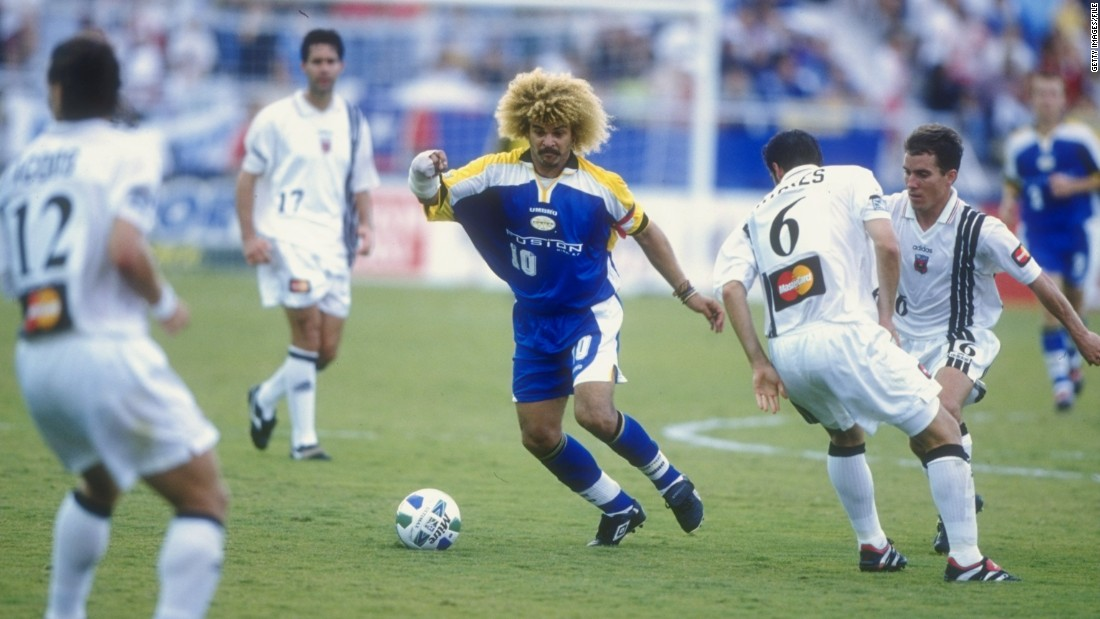 A number of global footballing stars like Colombia's Carlos Valderrama (center) were tempted to exhibit their skills in the MLS in the late 90s. Valderrama played for Tampa Bay Mutiny between 1996 and 2001 when the Mutiny were disbanded.