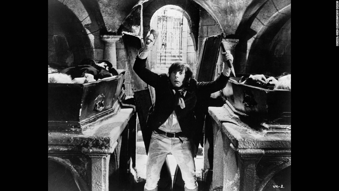 "Polanski acts in a scene from ""Dance of the Vampires"" in 1967."
