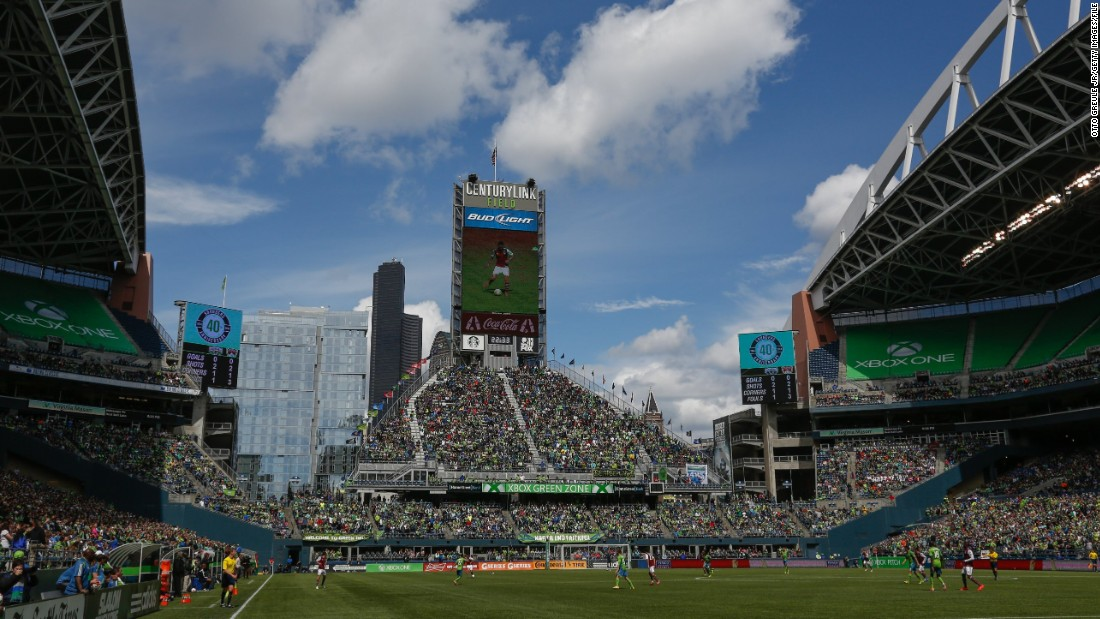 Average attendances at MLS games have picked up in recent years as the popularity of the sport has grown. Here, a packed crowd watches Seattle Sounders FC take on Colorado Rapids at CenturyLink Field, Seattle, in 2014.