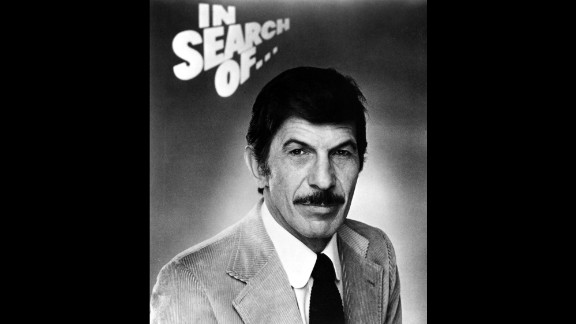 """In the late '70s and early '80s, Nimoy was as well known for his hosting role on """"In Search Of ...,"""" a show about the paranormal and mysterious, as he was for Spock."""