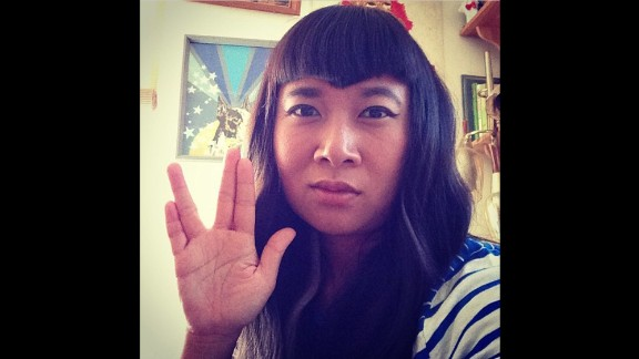 """Gwynne Siak from Seattle shares what she takes from Nimoy's legacy: """"critical thinking, compassion, and on fleek eyebrow and hair game."""""""