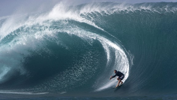 U.S. surfer Laird Hamilton rides a wave in Tahiti in 2013. Surfing is on a shortlist of sports that could be added to the 2020 Olympics in Tokyo.