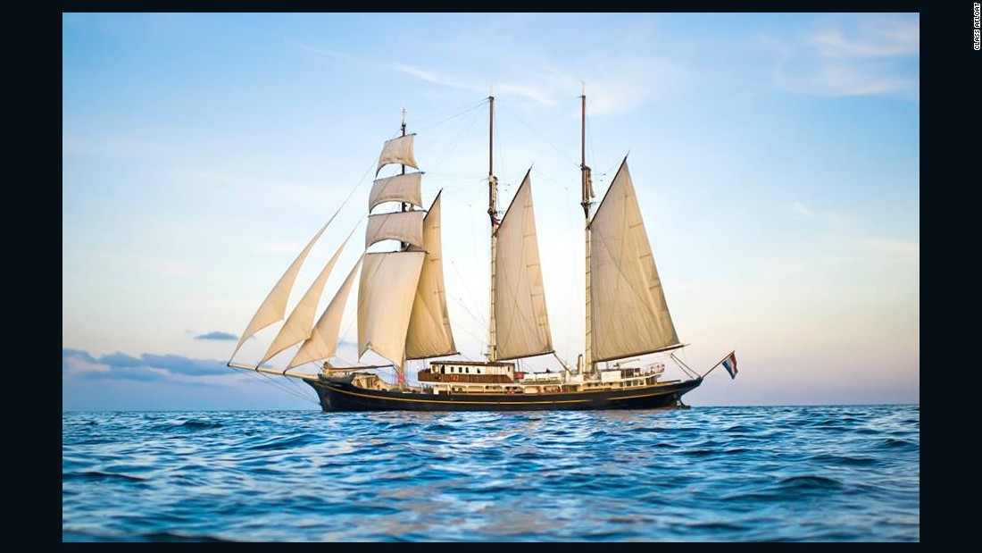 This tall ship takes dozens of students around the globe each year.