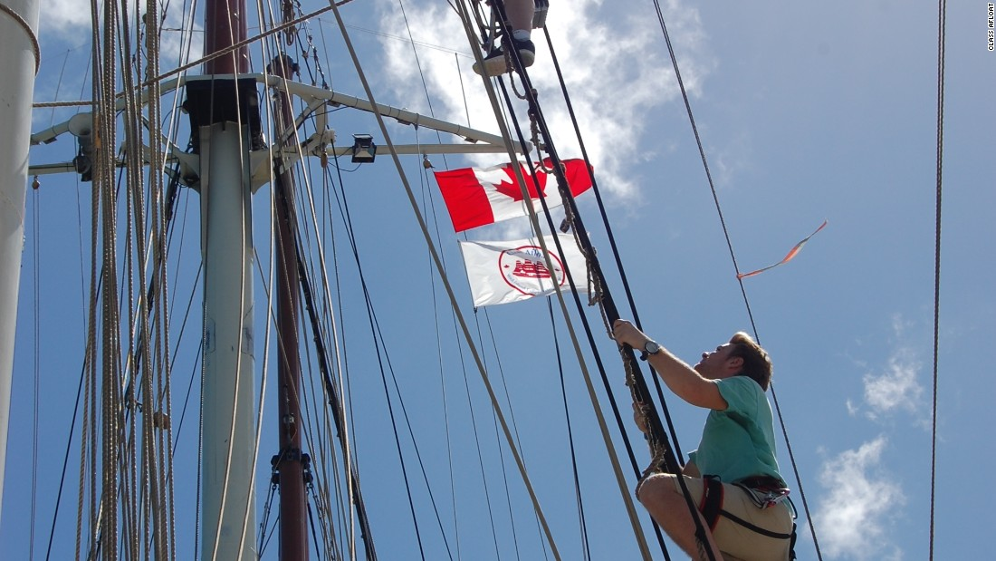 Unlike Breaker High, students on Class Afloat are also members of the crew, helping to sail the ship.