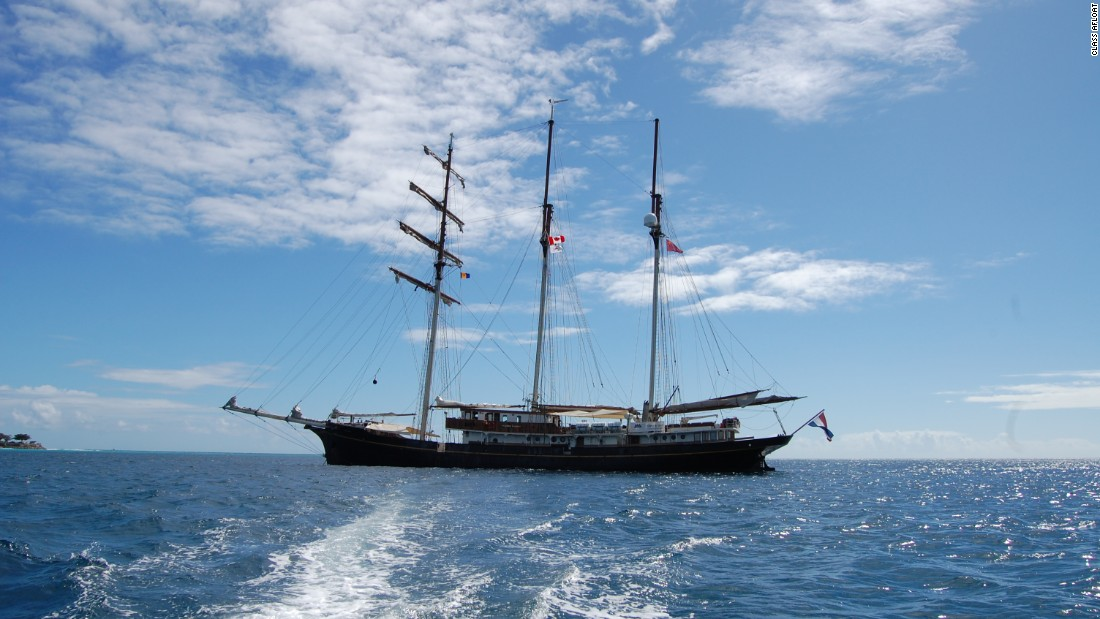 Class Afloat's tall ship is decidedly different to the cruise liner depicted in Breaker High.