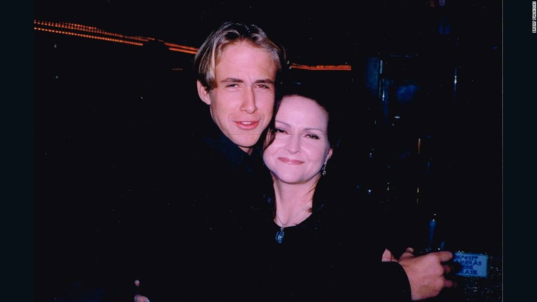 Here's Gosling in a photo supplied by a member of the production team on Breaker High, at one of the show's parties back in the late 1990s.