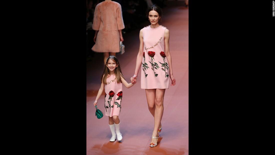 cheap price diverse styles better Dolce & Gabbana celebrates motherhood in Milan - CNN