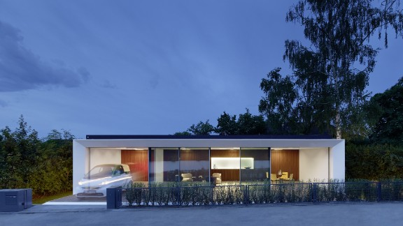German architects  Aktivhaus say this home generates twice as much energy as it consumes.