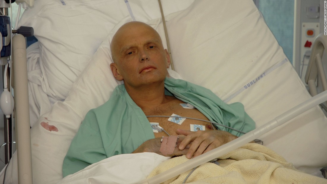 Former Russian agent Alexander Litvinenko was poisoned by a lethal dose of radioactive polonium, his tea spiked during a meeting with two former Russian security servicemen. He had said the Russian Federal Security Service orchestrated a series of bombings in Russia in 1999 that left hundreds dead and led to Russia's invasion of Chechnya later that year.