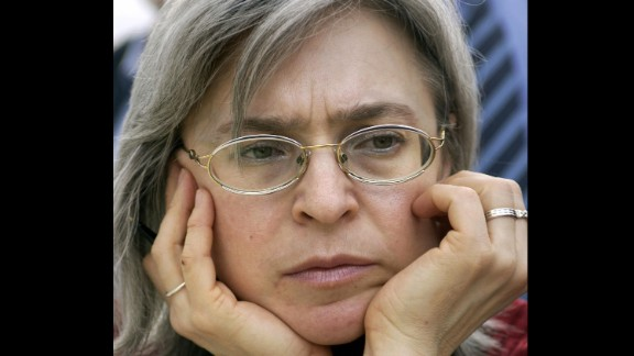Anna Politkovskaya, a vocal critic of Russia's war in Chechnya, was shot four times in front of her Moscow apartment in 2006. A Moscow court sentenced five men to prison in 2014 for her death.