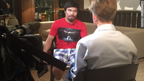 Manny Pacquiao described how he fought his way out of poverty.
