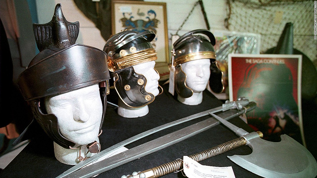 "Costumes like these from Ridley Scott's movie ""Gladiator"" were worn during the filming in Ouarzazate."
