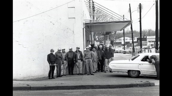 """Sheriff's deputies in Selma prepare to confront marchers on """"Bloody Sunday."""""""