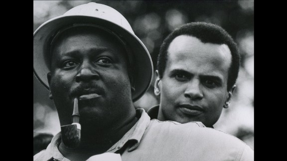 Singer Harry Belafonte, right, was among the activists at the Selma to Montgomery marches.