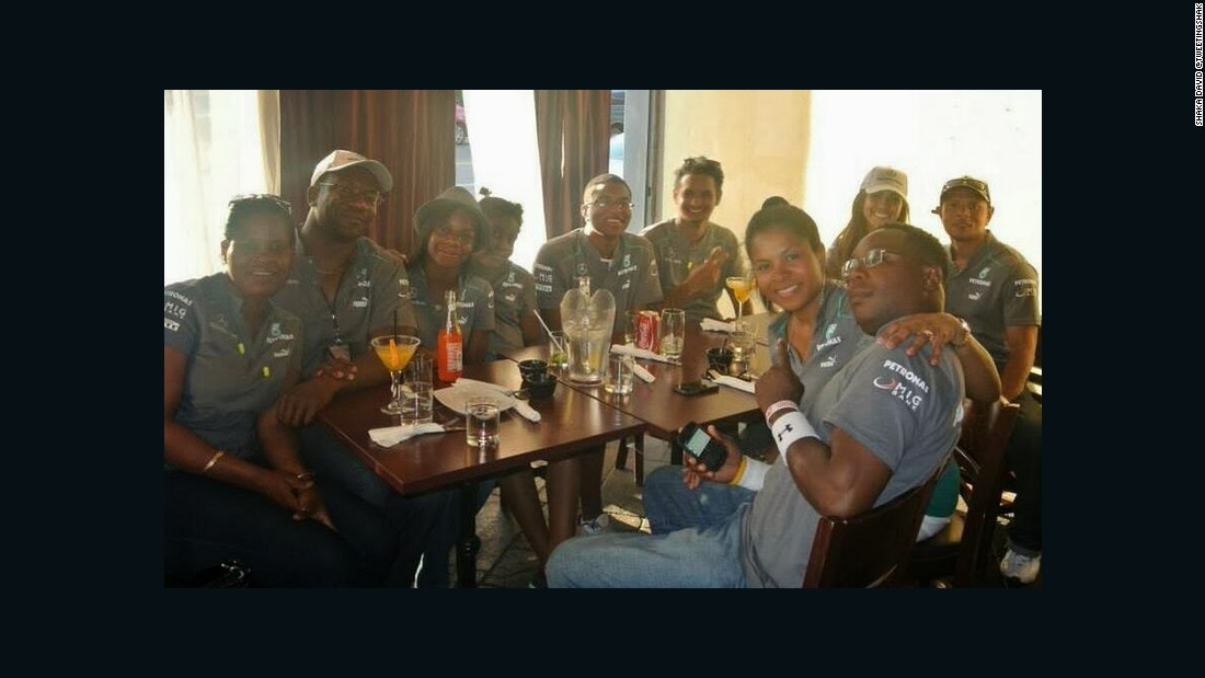 "Members of Lewis Nation regularly meet up to watch grands prix -- cocktails were required to celebrate Hamilton's title success with Mercedes in 2014. ""Lewis is one of the few drivers who actually appeals to Americans,"" says Thomas."