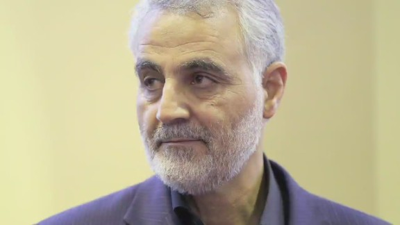 Qasem Soleimani, the commander of Iran's Quds Force, is shown in this file photo.