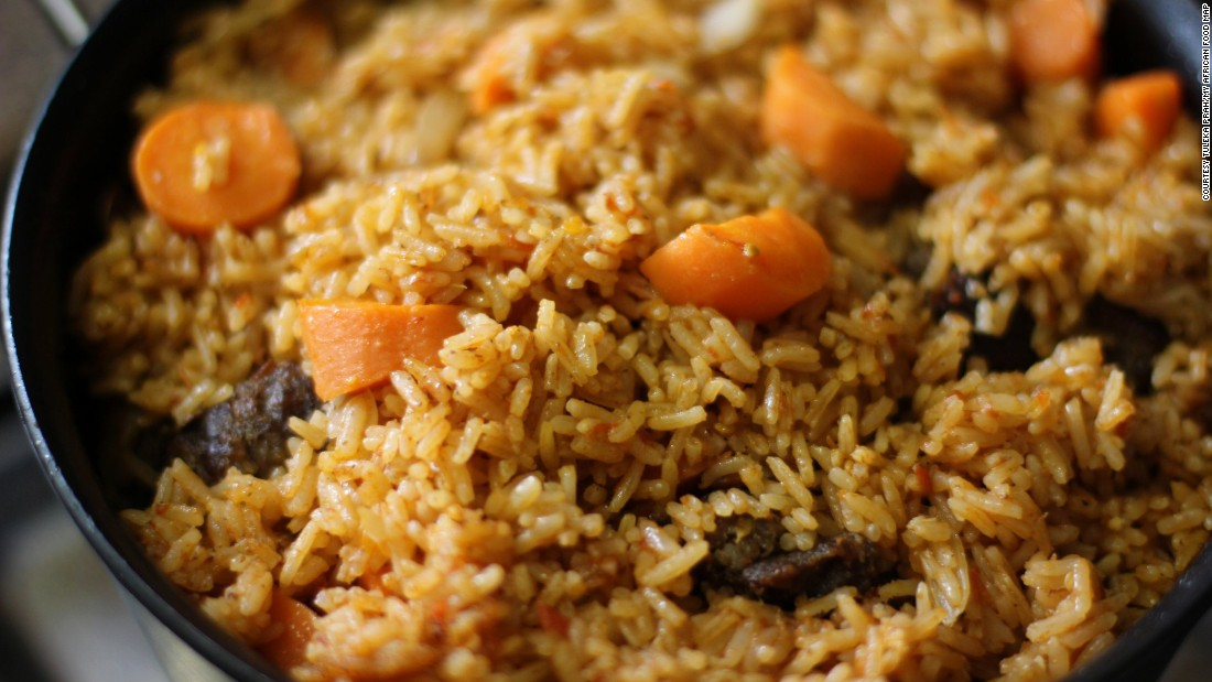 A familiar West African staple many eager foodies will have heard of -- Jollof Rice.