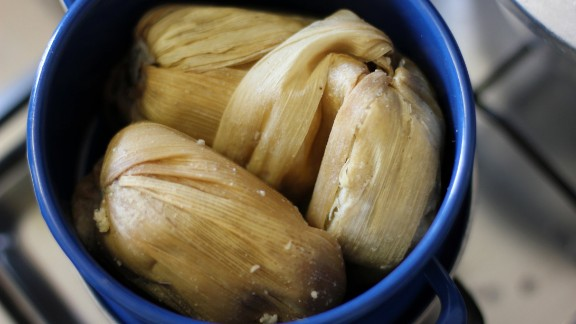 From Ghana, Kenke is a popular dish similar to a dumpling made from pounded maize. It is steamed in banana leaves and most often served on the side with soup or a spicy sauce.