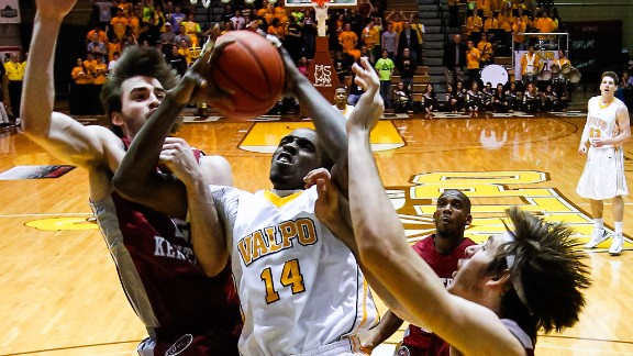 Jamaica-born Vashil Fernandez, a 6-foot-10-inch senior center with the Valparaiso Crusaders, will look to shine during March Madness.